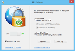 SSL Enforcer Settings