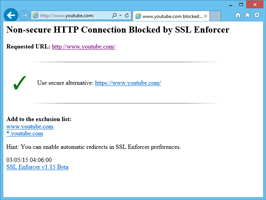 SSL connection available in browser